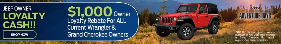 2019 Jeep Loyalty Cash September Offer