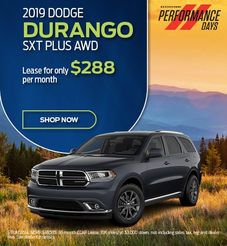 2019 Durango September Offer
