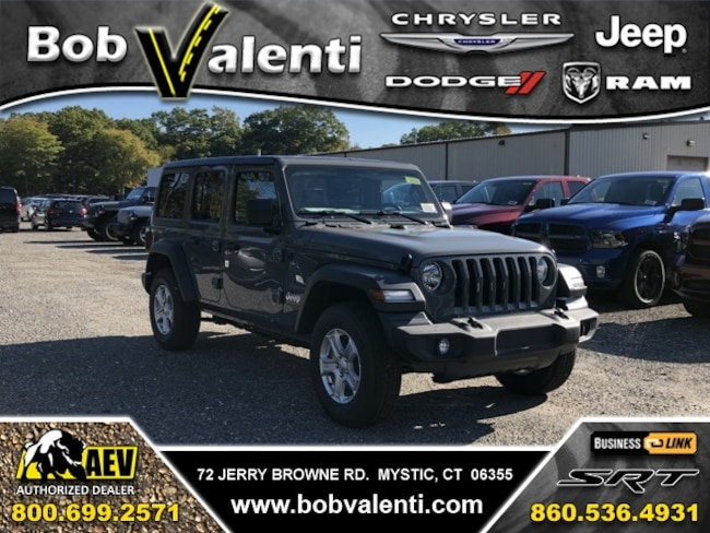New 2018 Jeep Wrangler Unlimited SPORT S 4X4 Sport Utility For Sale/Lease Mystic, CT