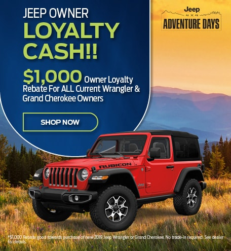 2019 Jeep Loyalty Cash September Offer