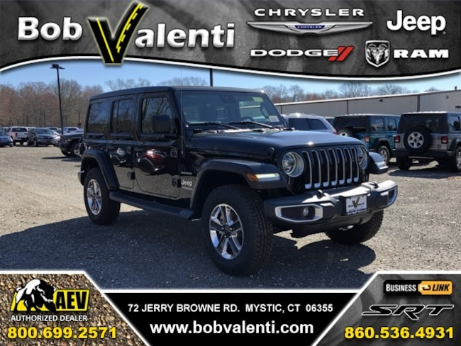 New 2019 Jeep Wrangler UNLIMITED SAHARA 4X4 Sport Utility For Sale/Lease Mystic, CT
