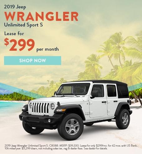 2019 Wrangler July Offer