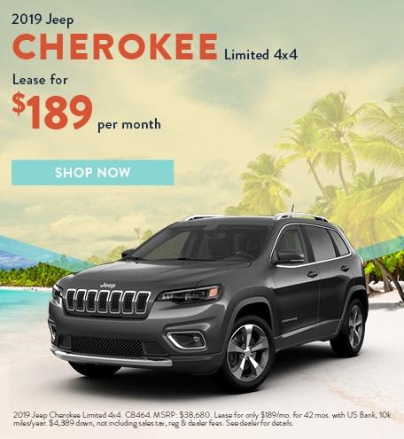 2019 Cherokee July Offer