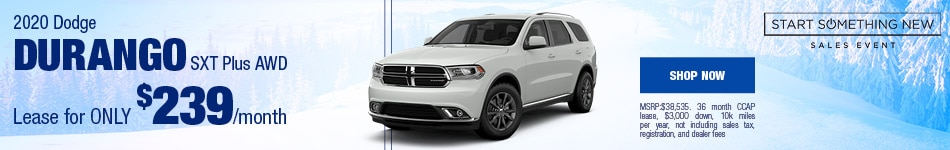 2020 Dodge Durango January Offer