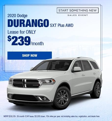 2020 Dodge Durango January Offer