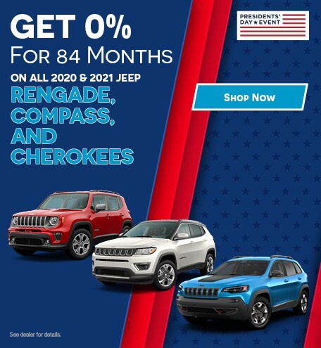 On All 2020 & 2021 Jeep Rengade, Compass, and Cherokees