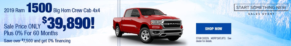 2019 Ram 1500 Big Horn Crew Cab 4x4 January Offer