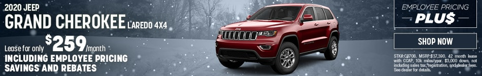 2020 Jeep Grand Cherokee Employee Pricing December Offer