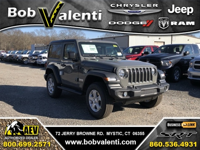 New 2019 Jeep Wrangler SPORT S 4X4 Sport Utility For Sale/Lease Mystic, CT
