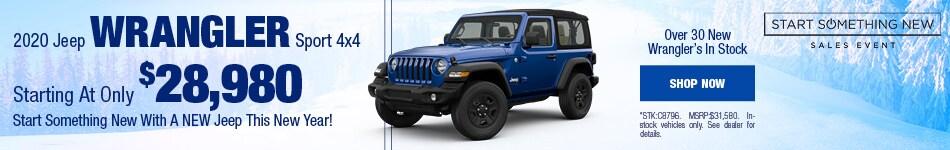 2020 Jeep Wrangler January Offer