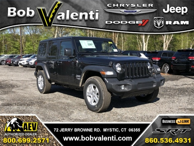 New 2019 Jeep Wrangler UNLIMITED SPORT S 4X4 Sport Utility For Sale/Lease Mystic, CT