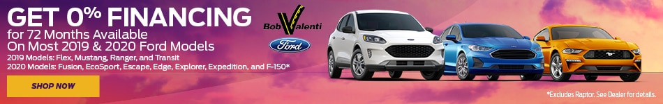 Get 0$ Financing For 72 Months On Most 2019 & 2020 Ford Models
