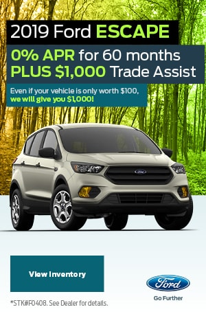 2019 Ford Escape April Offer