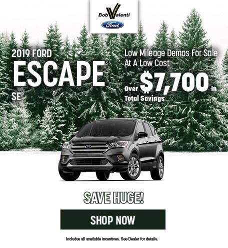2019 Ford Escape SE December Offer