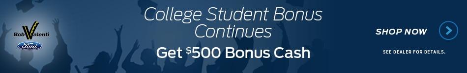 College Student Bonus Continues