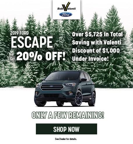 2019 Ford Escape December Offer