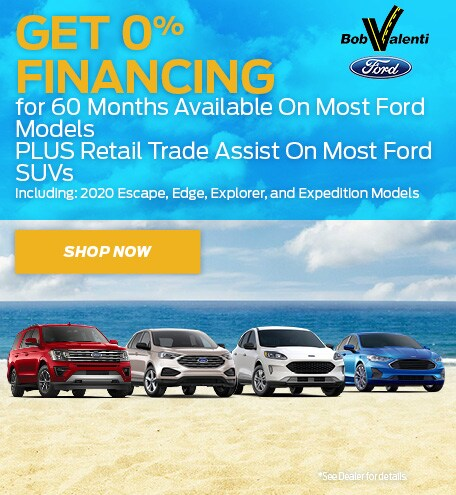 Get 0% Financing for 60 Months Available On Most Ford Models
