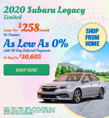 2020 Subaru Legacy April Offer
