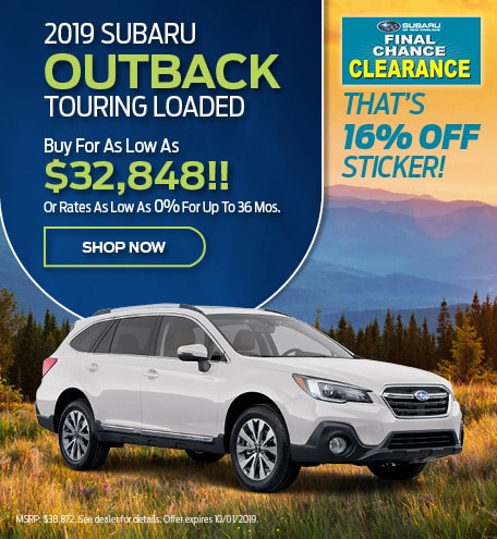2019 Subaru Outback Touring Lease Offer