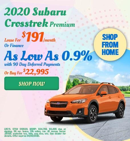 2020 Subaru Crosstrek April Offer