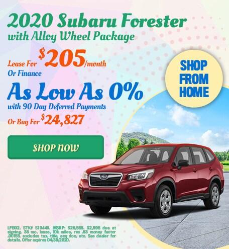 2020 Subaru Forester April Offer