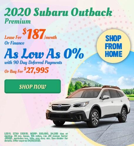 2020 Subaru Outback April Offer