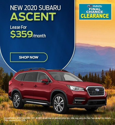 New 2020 Subaru Ascent Lease Offer