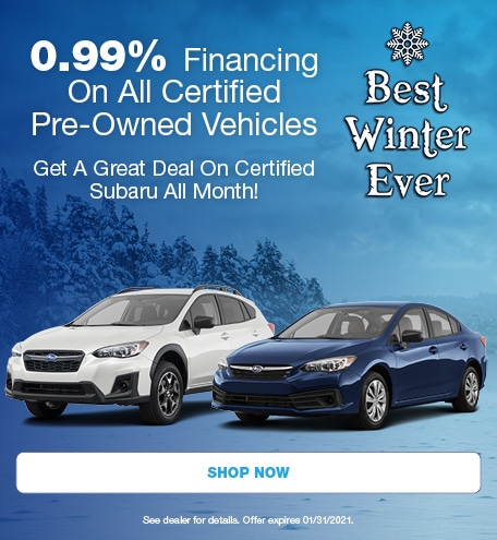 0.99% Financing On All Certified Pre-Owned Vehicles