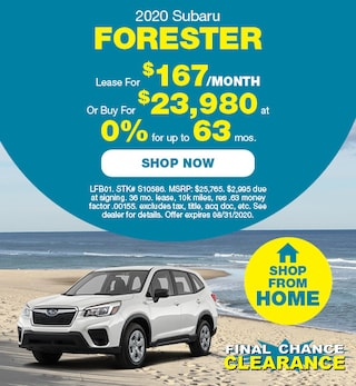2020 Subaru Forester September Offer