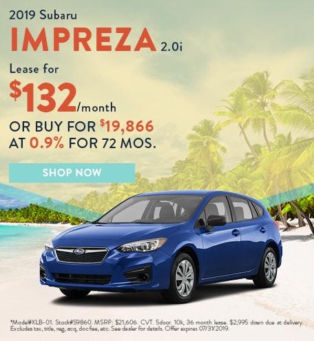 2019 Impreza July Offer