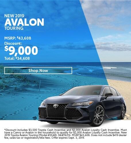2019 Avalon August Offer