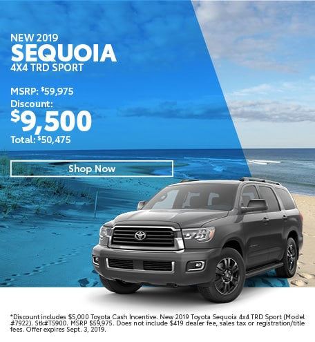 2019 Sequoia August Offer
