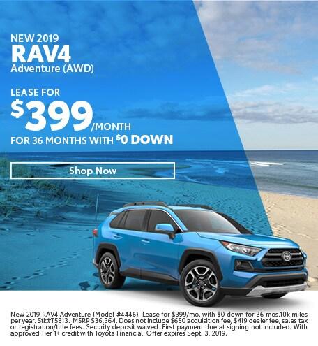 2019 RAV-4 August Offers