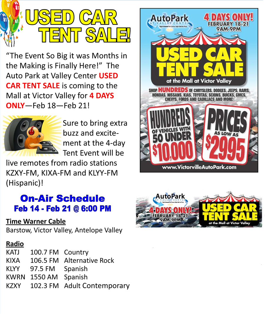Used Car Tent Sale Valley Hi Honda