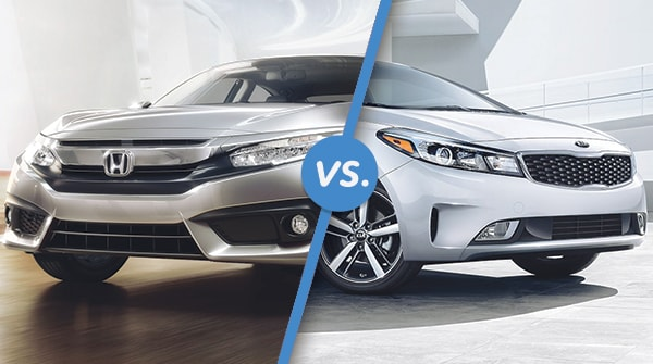 Comparison: 2017 Honda Civic vs 2017 Kia Forte