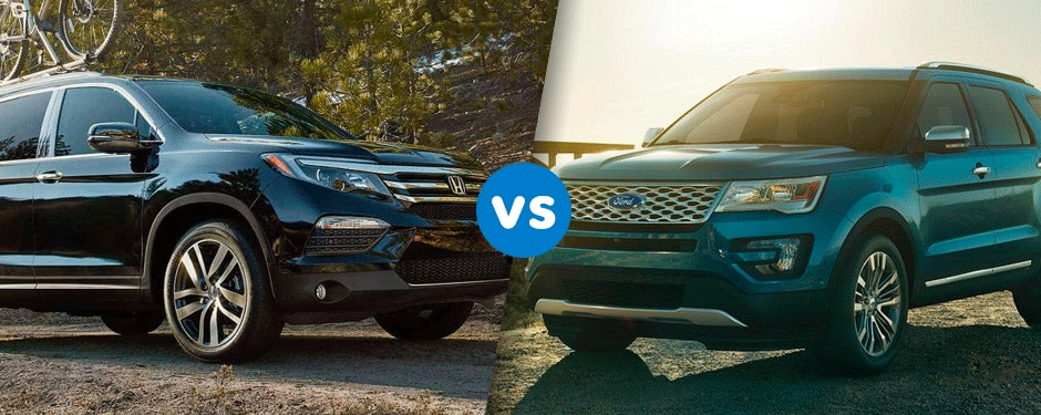 Comparison: 2017 Honda Pilot vs 2017 Ford Explorer