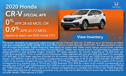 2020 Honda CR-V Special APR