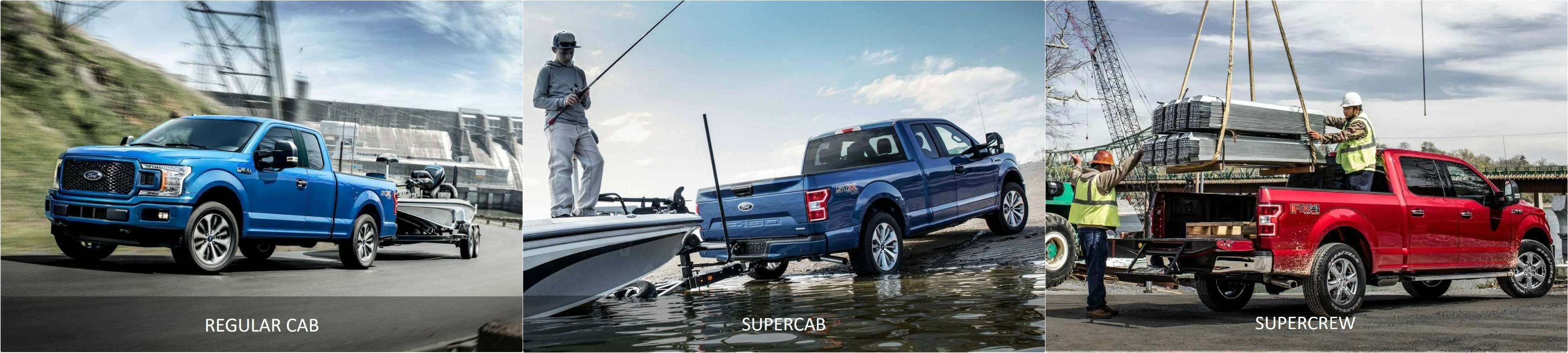 A Ford F150 Regular Cab vs. SuperCab vs. SuperCrew Towing and Payload