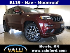 New Chrysler, Dodge, Jeep, Ram & Ford 2018 Jeep Grand Cherokee Overland 4x4 SUV for sale in Morris, MN