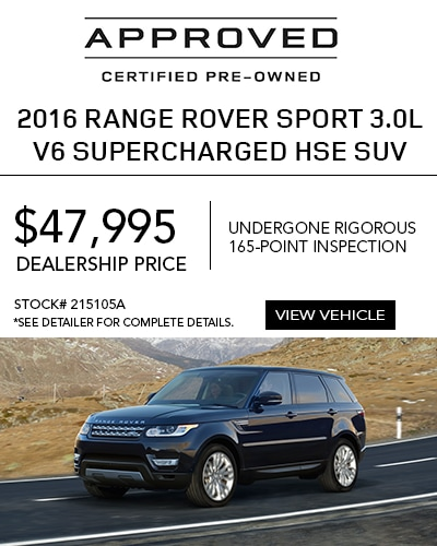 Certified Pre-Owned 2016 Range Rover Sport 3.0L V6 Supercharged HSE SUV