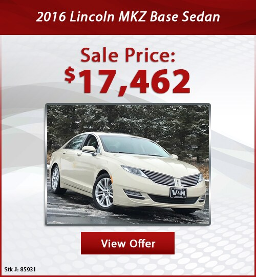 V & H Automotive Used Special 2016 Lincoln MKZ Base Sedan