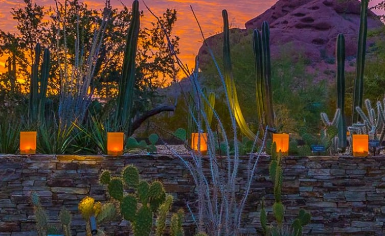 Celebrate The Holidays The Southwestern Way At The Desert Botanical Garden!  From Now Until Dec. 31, 2016, The Garden Basks In The Warm Glow Of Over  8,000 ...
