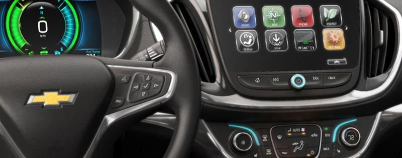 Chevrolet dashboard with touch screen