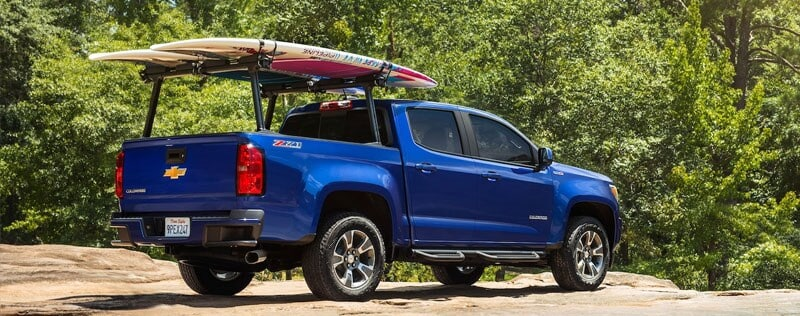 Chevy Silverado with stand up paddleboards