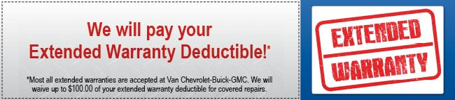 Extended Warranty Deductible Coupon, Scottsdale