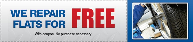 Free Flat Repair Coupon, Scottsdale
