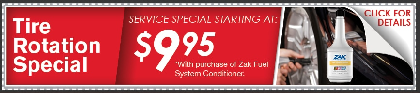 Tire Rotation Plus Zak Fuel System Conditioner Coupon, Kansas City