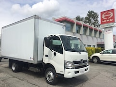 2019 HINO 155 With 16' dry van body, 7.5' high