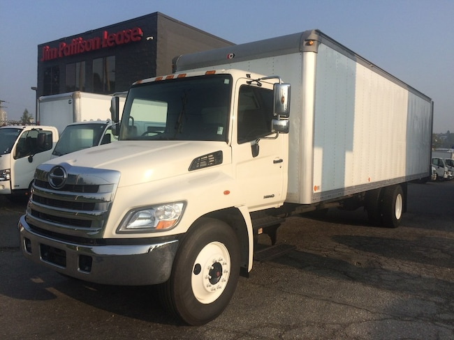 2012 HINO 338 With 27' dry van body & railgate
