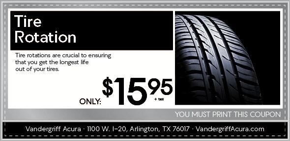 Rotate Balance Tires Auto Service Discount Coupon Arlington Tx
